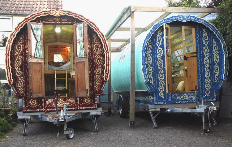 Festival Brides Love: Gregs Gypsy Bowtop Caravans
