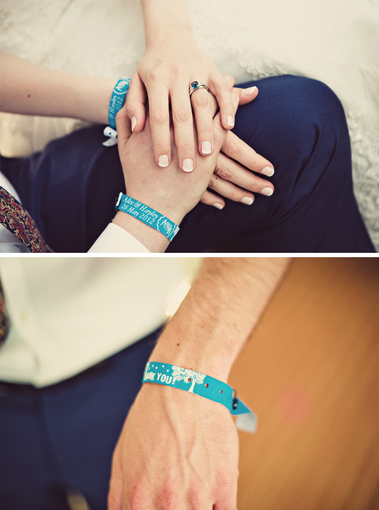 festival wedding fabric wristbands