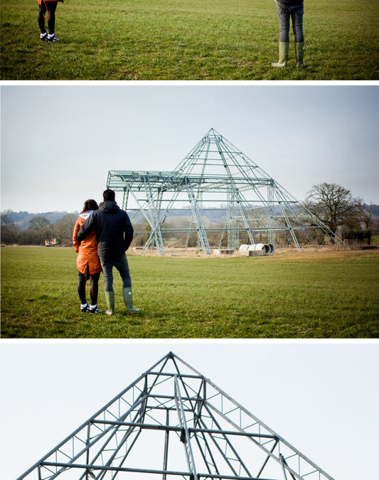 Lauren & Math's Engagement Shoot at Worthy Farm, Glastonbury