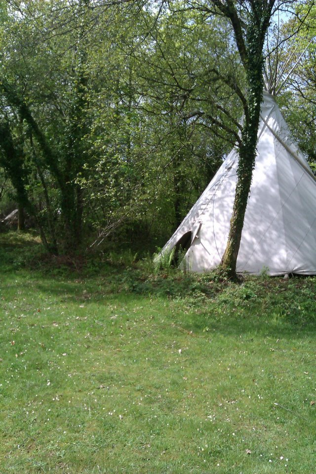 tipi in the sunshine