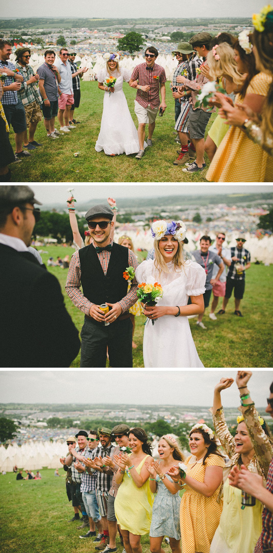 katie and stu's glastonbury wedding