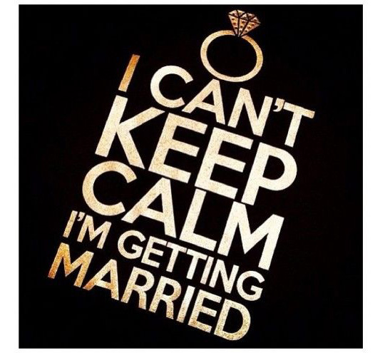 ican'tkeepcalmi'mgettingmarried