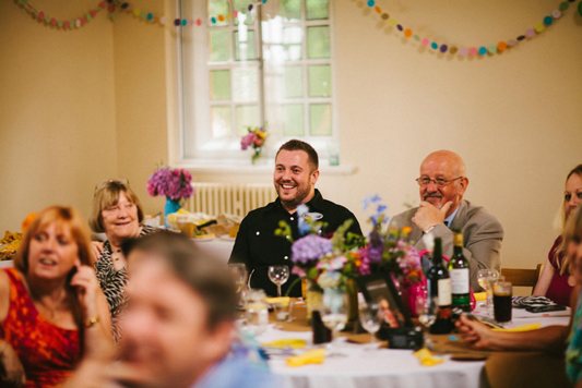 Abby & Liam Village Hall Colourful Wedding - Miki Photography-155