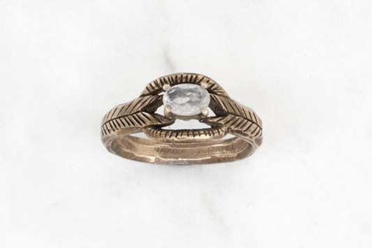 Moonstone Deco Ring