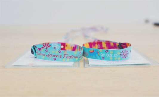 Release your Inner Artist: Make your own personalised wedding wristbands with ID&C