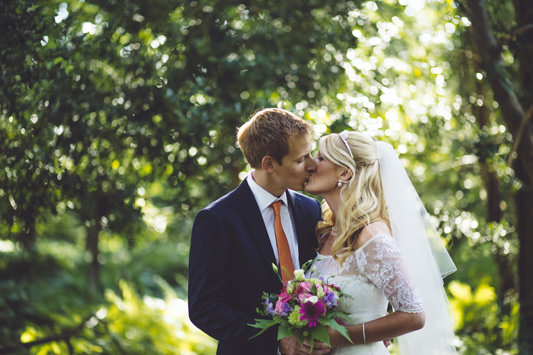 Laura and Rhys' Relaxed Country Forest Wedding
