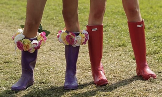 Glastonbury fashion: wellies