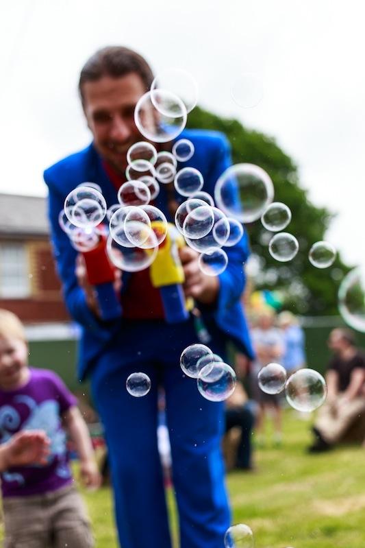 magician and bubbles