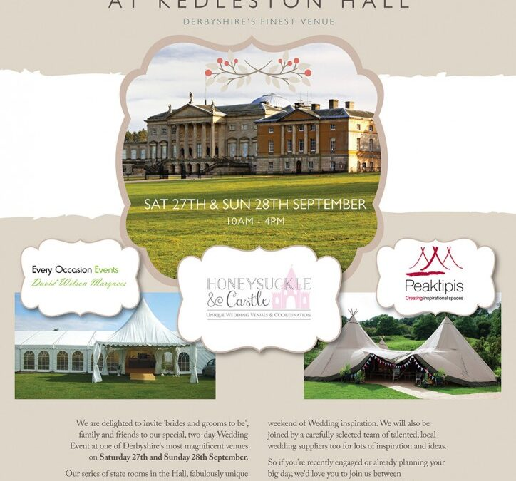 Peak Tipis Wedding Event @ Kedlaston Hall- 27th & 28th September 2014
