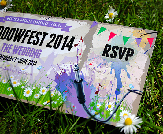 Festival Brides Loves: WEDFEST Festival Wedding Stationery