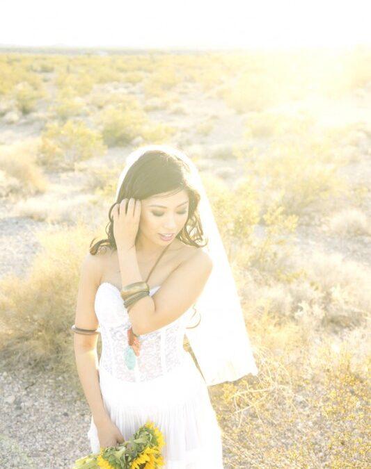 A Free-Spirited Bridal Boudoir Shoot in The Nevada Desert….