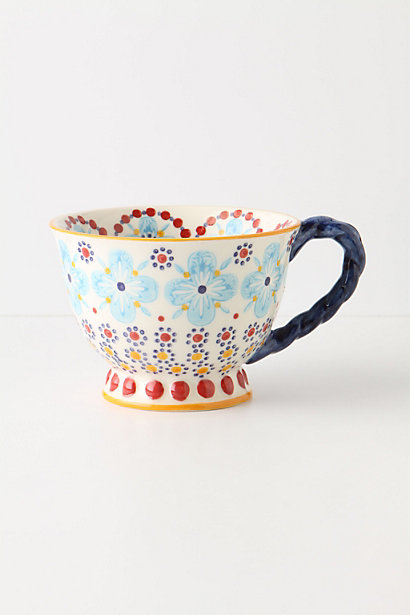 With a twist tea cup