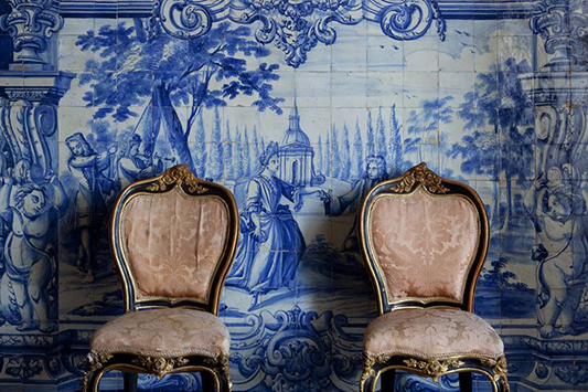 Me Old China: A Bohemian Delft Blue Mood Board