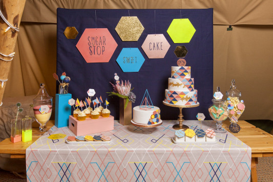 Geometric Wedding Styling by Mad Philomena