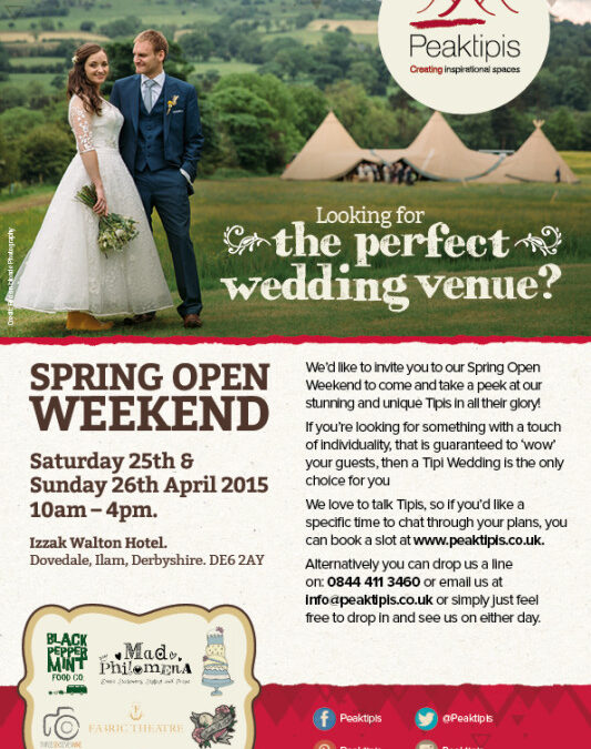 Peaktipis Spring Open Weekend – 25th and 26th April 2015