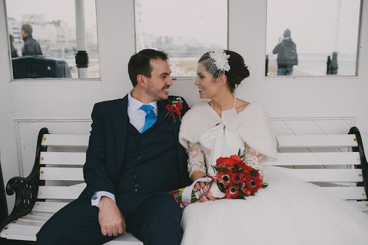 Dan and Kayleigh's Retro Seaside Brighton Wedding