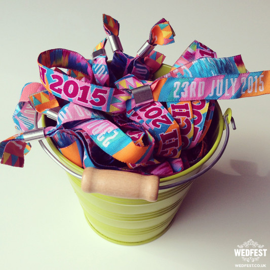 Festival Wedding Wristbands from Wedfest