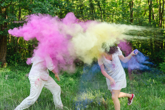 Alicia and Matteo's Holi Inspired Engagement Shoot