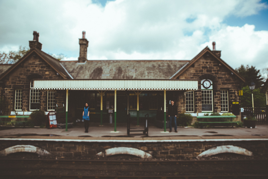 Anna & Myles Embsay Steam Railway Engagement Shoot By Shutter Go Click Photography-15