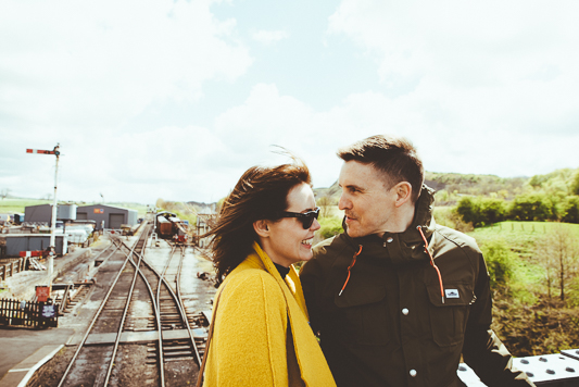 Anna & Myles Embsay Steam Railway Engagement Shoot By Shutter Go Click Photography-32