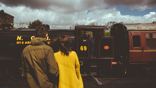 Anna & Myles Embsay Steam Railway Engagement Shoot By Shutter Go Click Photography-37