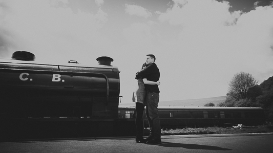 Anna & Myles Embsay Steam Railway Engagement Shoot By Shutter Go Click Photography-50