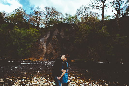 Anna & Myles Embsay Steam Railway Engagement Shoot By Shutter Go Click Photography-59