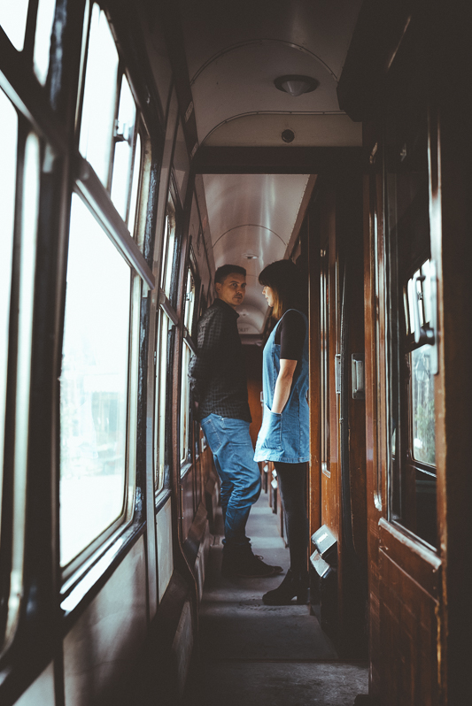 Anna & Myles Embsay Steam Railway Engagement Shoot By Shutter Go Click Photography-8