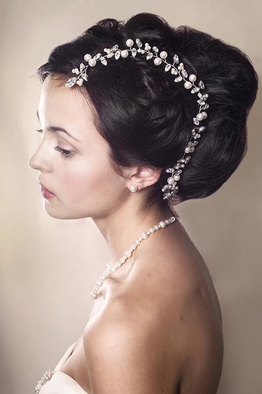 Bryony Wedding Hair Vine Modelled