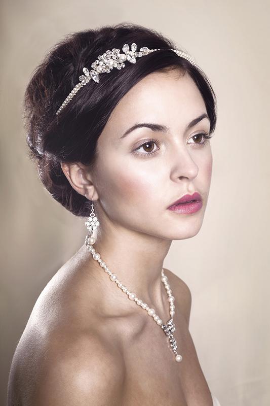 Delphine Wedding Tiara Modelled