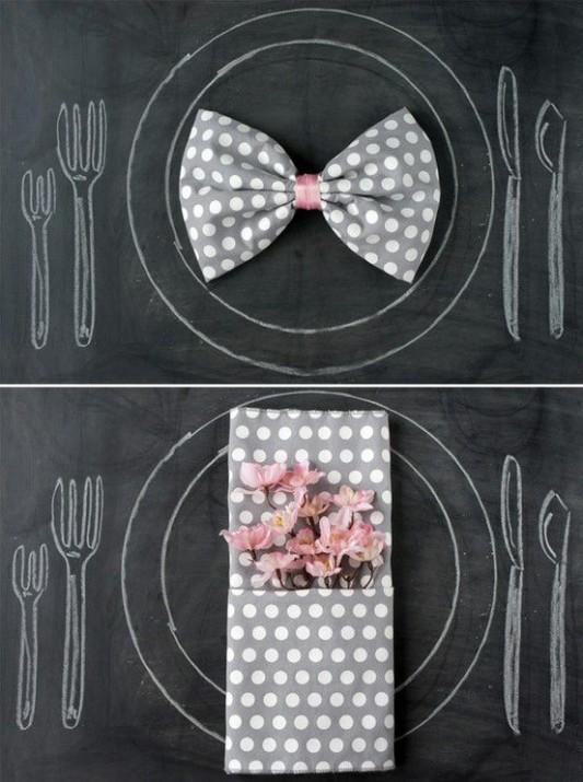 alternative-wedding-napkin-ideas-bow-tie