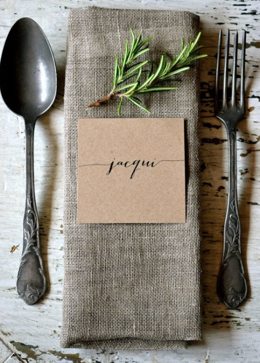 alternative-wedding-napkin-ideas-herbs