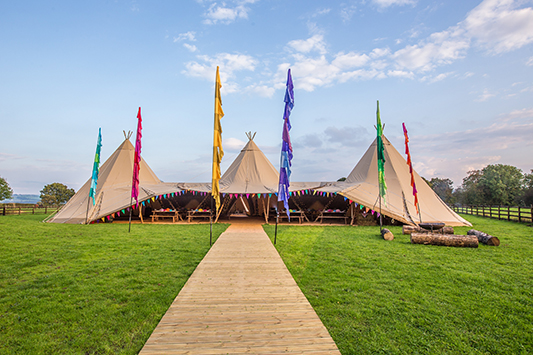 Festival Brides Love: Big Chief Tipis