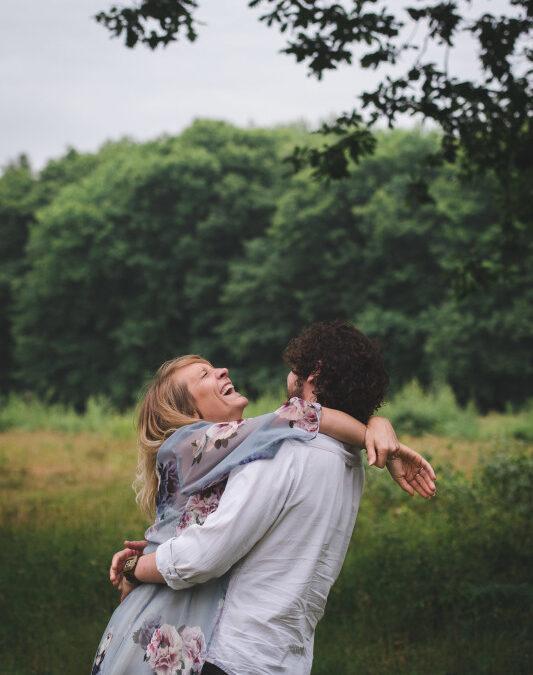 Emma and Chris' Woodland Engagement Shoot