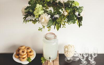 DIY Tutorial – Hanging Floral Chandeliers