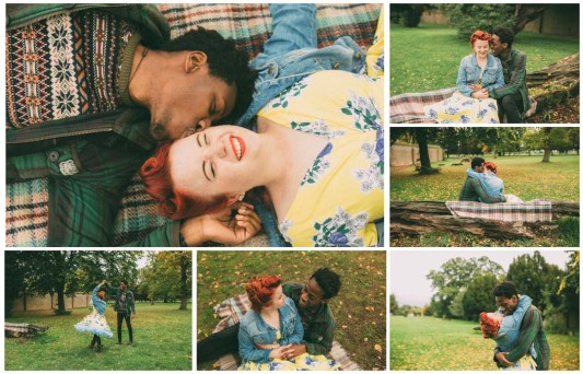 Adeola and Megan's Relaxed and Fun Autumnal Couples Shoot