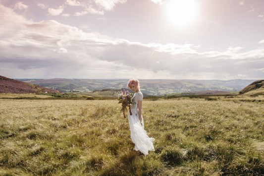A Summer Haze – A Bohemian Styled Bridal Shoot in The Peak District