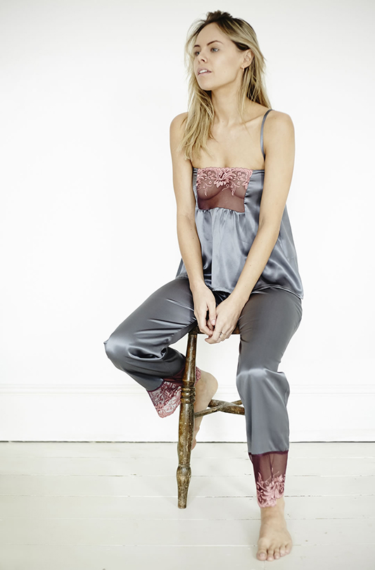 Dove silk pyjamas