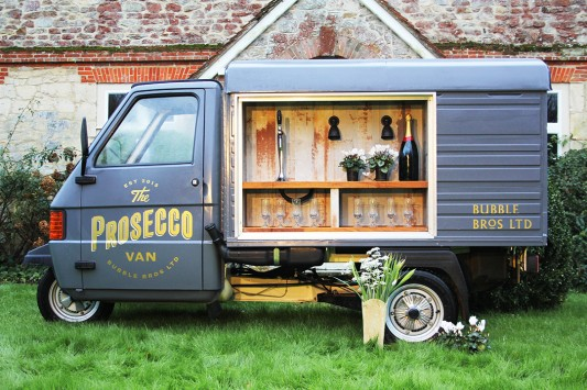 Festival Brides Love: The Bubble Bros Prosecco Van