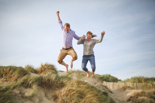 Anja and Mike's Beachside Engagement Shoot