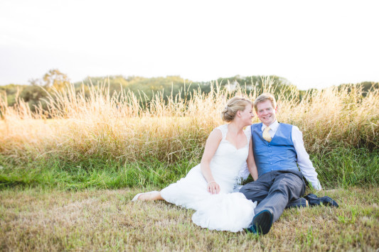 Anja and Mike's Relaxed Garden Style Wedding in A Field