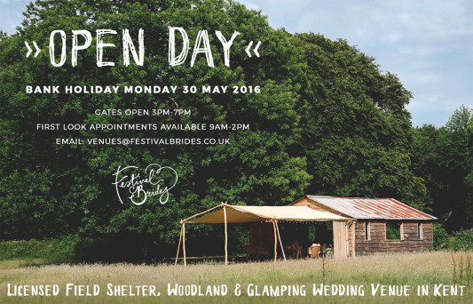 Open Day This Monday at Our Beautiful Woodland Wedding Venue in Kent!