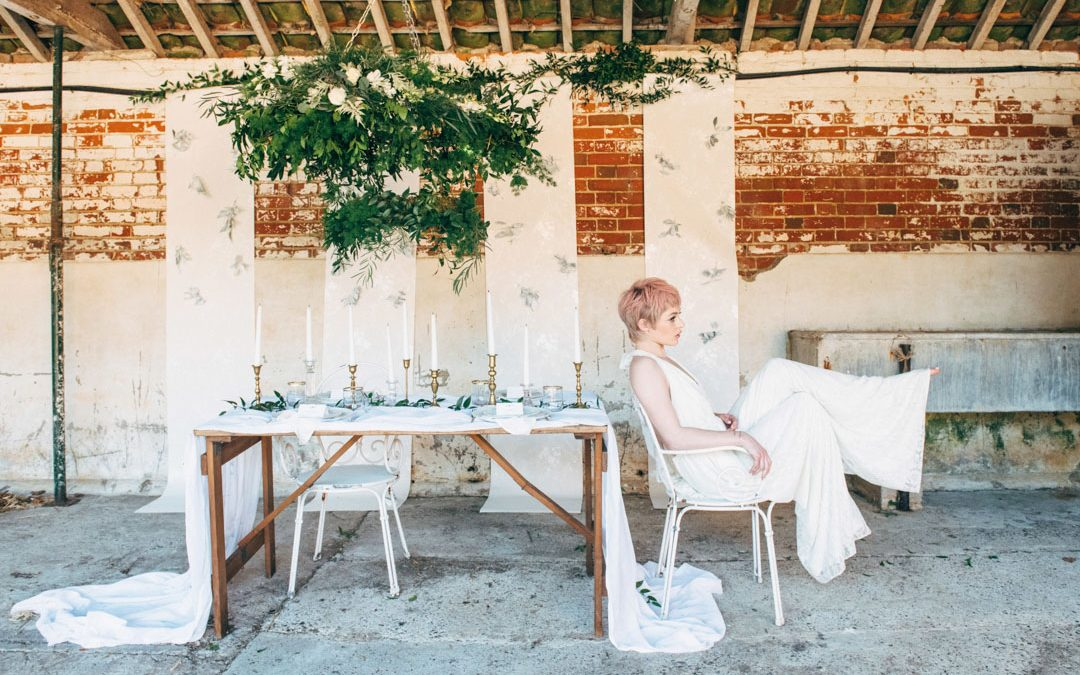Festival Brides & The Little Lending Company – White on White Wedding Inspiration Shoot
