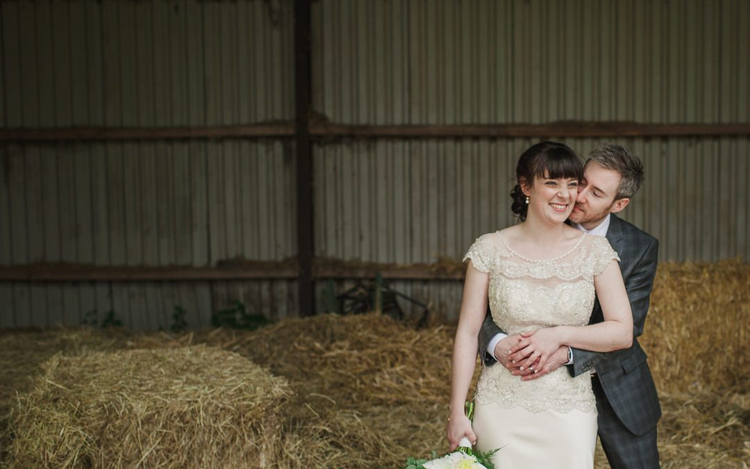 Fran and Matt's Relaxed Barn Wedding with a Vintage Twist