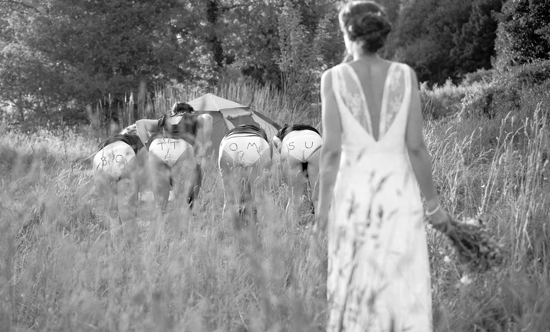 NEll & Dunca Choose a wedding in a meadow using the a barn and the grasses around them to create a magical meadow wedding.