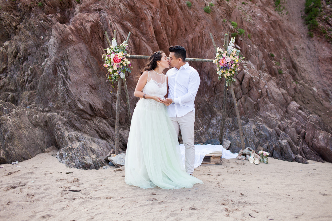 Beach engagement 1228