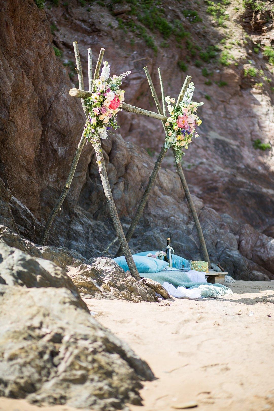 Beach engagement 1386