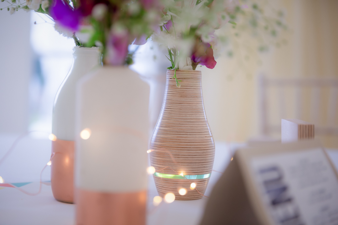 DIY Vases | Outdoor Marquee Wedding | Image by Rocksalt Photography