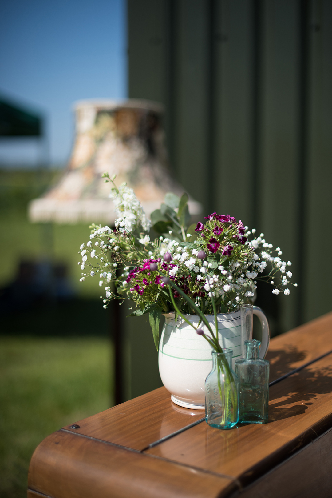 flowers at a festival wedding