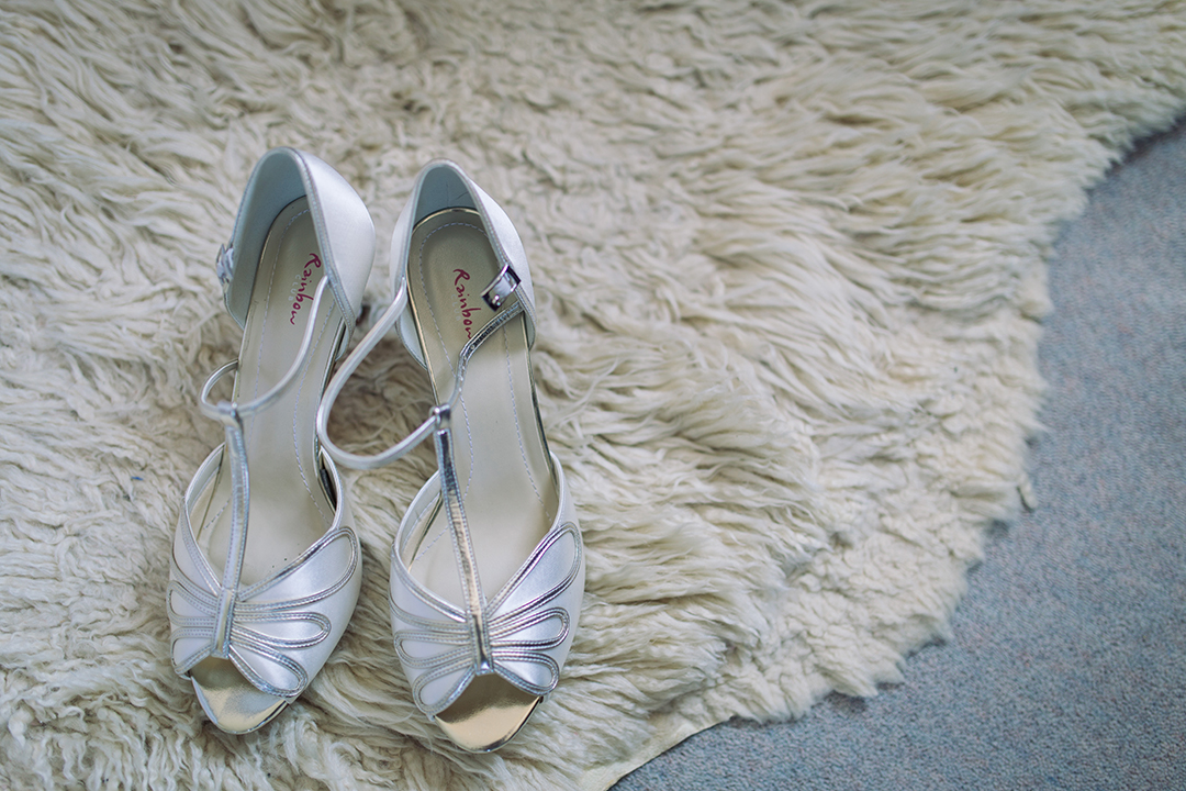brides vintage style shoes for a festival style wedding